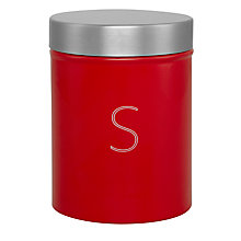 Buy House by John Lewis Sugar Canister, Red Online at johnlewis.com