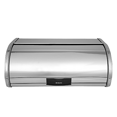 Brabantia Storage Touch Bread Bin, Brilliant Steel