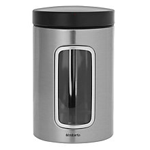 Buy Brabantia Window Canisters, Matt Stainless Steel, 1.4L Online at johnlewis.com