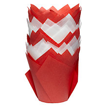 Buy John Lewis Christmas Tulip Paper Cupcake Cases Online at johnlewis.com