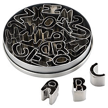 Buy Cake Boss Mini Alphabet Cutters, Set of 26 Online at johnlewis.com
