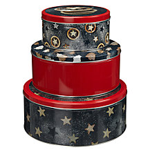 Buy John Lewis Made With Love Christmas Tins, Set of 3 Online at johnlewis.com
