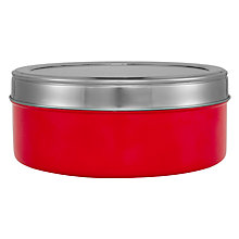 Buy House by John Lewis Stainless Steel Cake Storage Tin, Red Online at johnlewis.com