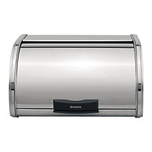 Buy Brabantia Storage Touch Bread Bin, Medium, Brilliant Steel Online at johnlewis.com