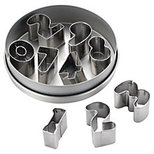 Buy Cake Boss Number Mini Cookie Cutters, Set of 9 Online at johnlewis.com