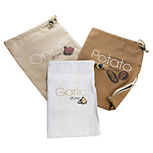 Buy Eddingtons Vegetable Store Bags, Set of 3 Online at johnlewis.com
