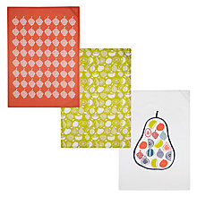 Buy John Lewis Scandi Fruit Tea Towels, Set of 3 Online at johnlewis.com