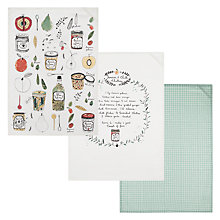 Buy John Lewis Preserving Tea Towels, Set of 3 Online at johnlewis.com