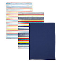 Buy John Lewis Scandi Stripe Tea Towels, Set of 3 Online at johnlewis.com