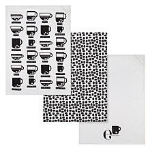 Buy John Lewis Coffee Tea Towels, Set of 3 Online at johnlewis.com
