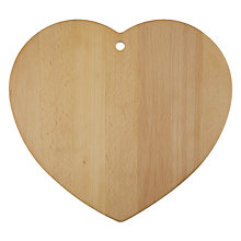 Buy John Lewis Heart Shaped Chopping Board Online at johnlewis.com