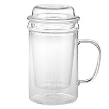 Buy John Lewis Glass Mug with Infuser Online at johnlewis.com