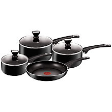 Buy Jamie Oliver by Tefal Essential Aluminium Pan Set, 4 Pieces Online at johnlewis.com
