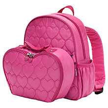 Buy Babymel Explorer Hearts Backpack with Lunch Bag, Fuchsia Online at johnlewis.com
