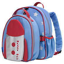 Buy Babymel Explorer Rocket Backpack with Lunch Bag, Blue/Multi Online at johnlewis.com