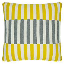 Buy House by John Lewis Dominoes Cushion, Yellow / Steel Online at johnlewis.com