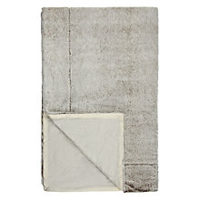 Buy John Lewis Two-Tone Plush Fleece Throw Online at johnlewis.com