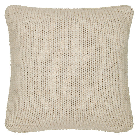 Buy John Lewis Ribbed Knit Cushion Online at johnlewis.com