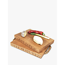 Buy The Oak And Rope Company Personalised Classic Chopping Board, Large Online at johnlewis.com