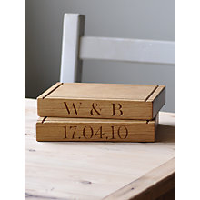 Buy The Oak And Rope Company Personalised Square Chopping Board Online at johnlewis.com