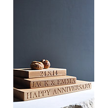 Buy The Oak And Rope Company Personalised Square Board Online at johnlewis.com