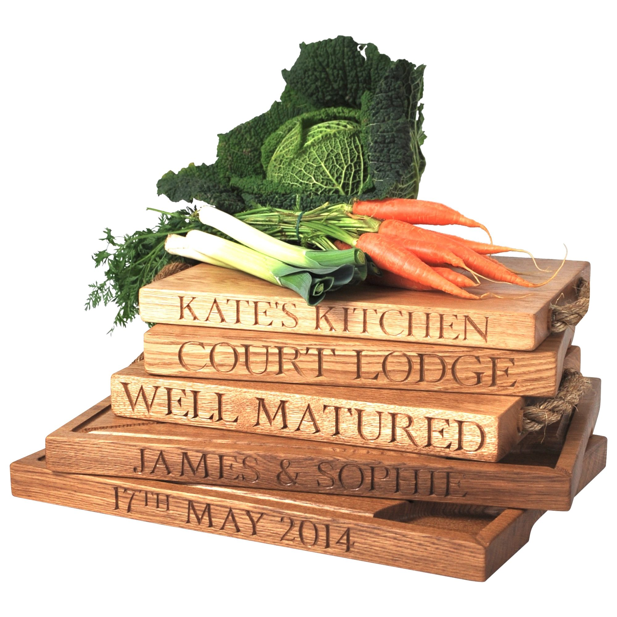 The Oak And Rope Company The Oak And Rope Company Personalised Carving Board