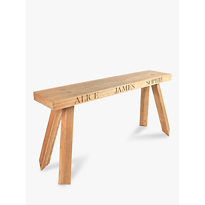 Image of The Oak And Rope Company 2-Seat Personalised Bench, Medium
