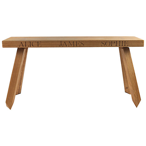 Buy The Oak And Rope Company 2-Seat Personalised Bench, Medium Online at johnlewis.com