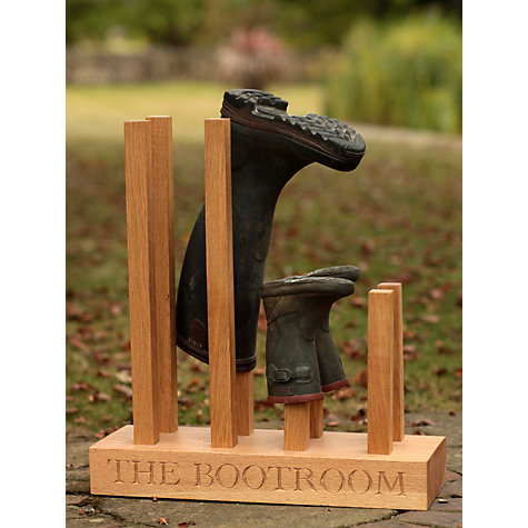 Buy The Oak And Rope Company Personalised Wellie Boot Holder, 4 Pairs Online at johnlewis.com