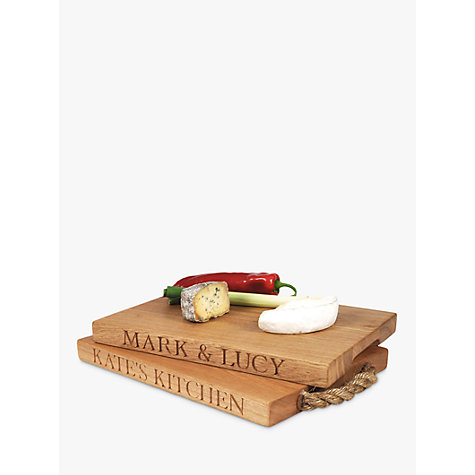 Buy The Oak And Rope Company Personalised Classic Chopping Board, Medium Online at johnlewis.com