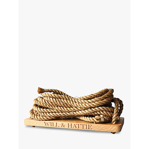 Buy The Oak And Rope Company Personalised Swing, Large Online at johnlewis.com