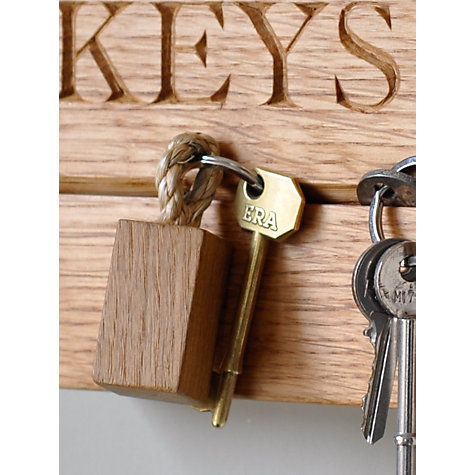 Buy The Oak And Rope Company Personalised Horizontal Key Organiser Online at johnlewis.com