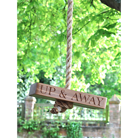 Buy The Oak And Rope Company Personalised Up And Away Swing Online at johnlewis.com