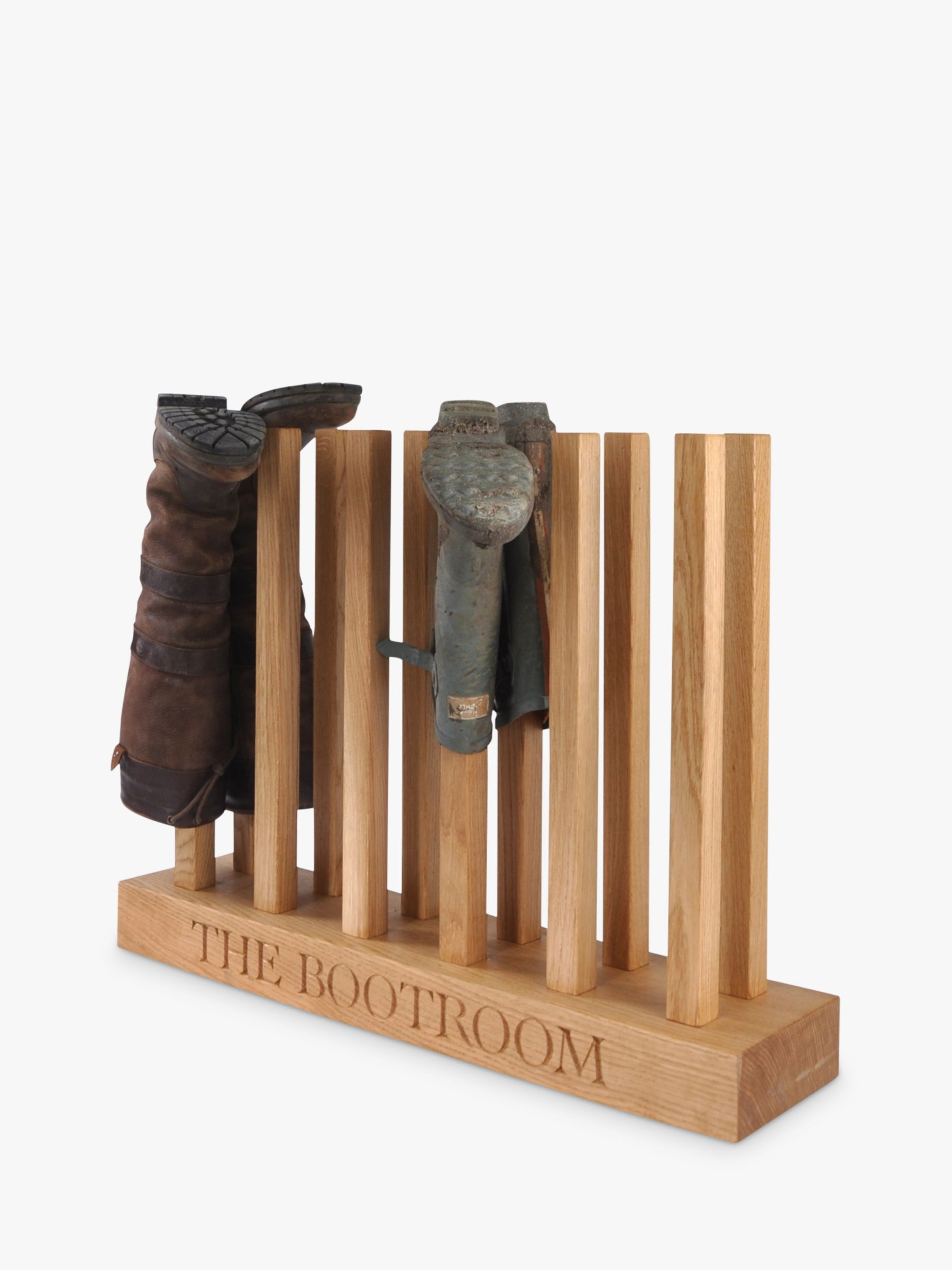 The Oak And Rope Company The Oak And Rope Company Personalised Wellie Boot Holder, 6 Pairs