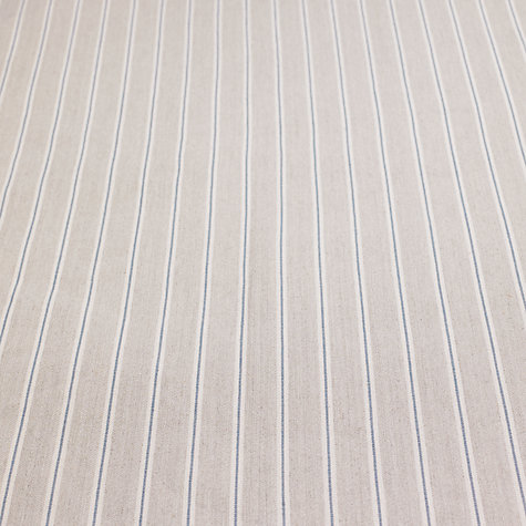 Buy John Lewis Berlin Woven Stripe Fabric, Natural Blue, Price Band B Online at johnlewis.com