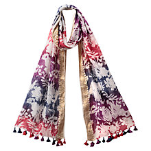 Buy East Floral Silhouette Scarf, Magenta Online at johnlewis.com