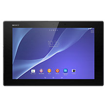 "Buy Sony Xperia Z2 Tablet, Snapdragon 801, Android, 10.1"", NFC, Wi-Fi & 4G LTE, 16GB, Black  + FREE 32GB Memory Card Online at johnlewis.com"