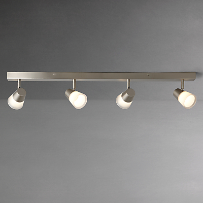John Lewis Cormack LED Spotlight Bar, 4 Light, Nickel