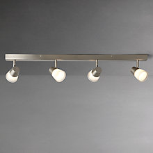 Buy John Lewis Cormack LED Spotlight Bar, 4 Spot, Nickel Online at johnlewis.com