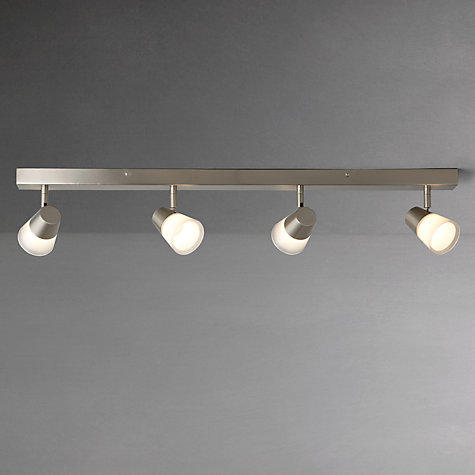 Buy John Lewis Cormack LED Spotlight Bar, 4 Light, Nickel Online at johnlewis.com
