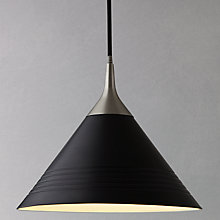 Buy John Lewis Henrik LED Cone Ceiling Light, Black Online at johnlewis.com