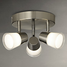 Buy John Lewis Cormack LED Spotlight Plate, 3 Spot, Nickel Online at johnlewis.com