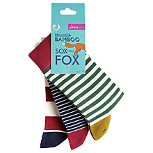 Buy Joules Brill Bamboo Sporty Ankle Socks, Multi, Pack of 3 Online at johnlewis.com