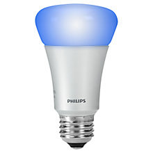 Buy Philips Hue 9W A19 ES Connected Bulb, Multi Online at johnlewis.com