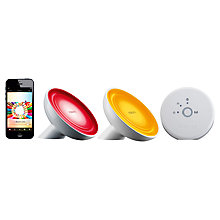 Buy Philips Friends of Hue LivingColors Bloom Colour Changing LED Mood Light Starter Kit, White Online at johnlewis.com