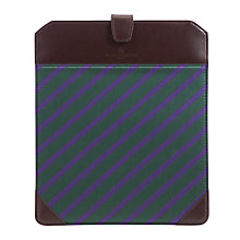 Buy Smart Turnout Striped Leather iPad® Sleeve, Green/Brown Online at johnlewis.com