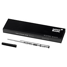 Buy Montblanc Ballpoint Pen Refill, Mystery Black Online at johnlewis.com