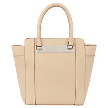 Buy Warehouse Metal Bar Detail Handbag, Beige Online at johnlewis.com