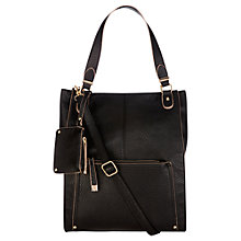 Buy Oasis Suzie Shopper Bag, Black Online at johnlewis.com