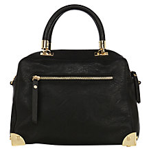 Buy Oasis Metal Corner Barrell Bag, Black Online at johnlewis.com